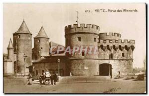 Metz - German Gate - Old Postcard