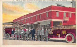 F55/ Calexio y Mexicali Mexico Foreign Postcard c1920s Fire Department