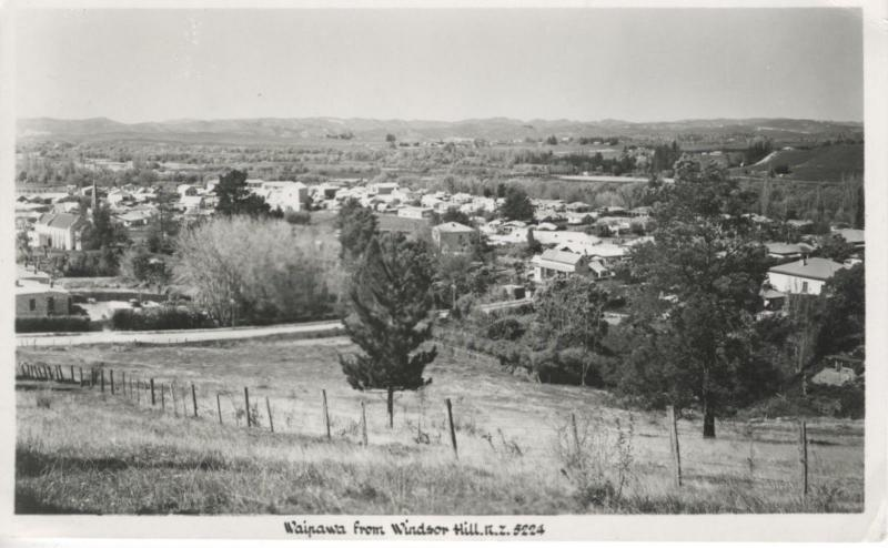 Waipawa From Windsor Hill NZ New Zealand Central Hawke's Bay RPPC Postcard D16