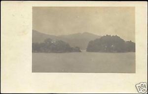 Trinidad B.W.I., Island Panorama (1908) RPPC Stamp