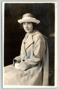 St Thomas (Also Dutton) ON Closeup of Lovely Young Lady~Freckled Nose~RPPC c1918