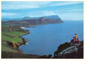 South Africa, Looking towards Cape Town from Cape Point across Buffels Bay