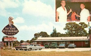 Automobiles Barbecue Fat Boys Restaurant Roadside Edgewater Florida Reeves 11490