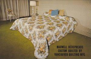 Maxwell Bedspreads Custom Quilted By Vancouver Quilting Mfg., Vancouver, Brit...