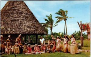 LAIE, Hawaii  TAHITIAN ENTERTAINERS Polynesian Cultural Center  c1950s Postcard