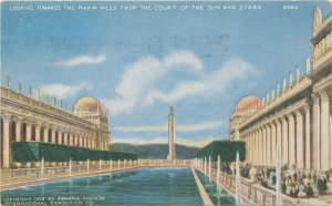 1913 PreExpo Adv PC #5003 Marin Hills From Court Of Sun & Stars PPIE PanPac Expo