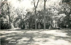 Montevideo Minnesota~Log Cabin in Smith Park~1964 Real Photo Postcard