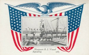 NEWPORT , Rhode Island, 1900-10s; U.S. Naval Training Station, Visual Signaling