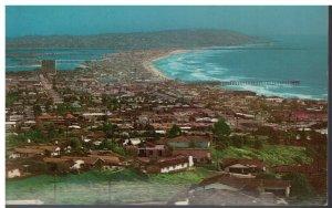 Postcard - Pacific, Mission & Ocean Beaches, San Diego, California