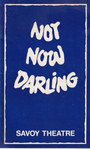 Not Now Darling June Whitfield Leslie Phillips Savoy Theatre Programme
