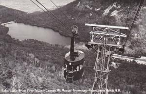 New Hampshire Franconia Notch Echo Lake From First Tower Cannon Mountain Aeri...