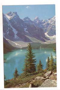 Lake Moraine, Valley of the Peaks, Alberta, Keystone Press