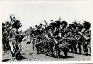 Papua New Guinea, Real Photo Native Papuas, Native Dance (1930s) RP (20)