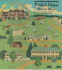 Publick House Sturbridge Mass Historic Resort Travel Brochure, David C Lane