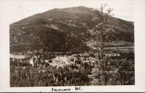 Falkland BC British Columbia Unused Real Photo Postcard F41
