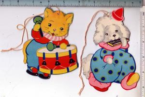 2 - Dog & Cat, Two Sided Ornaments