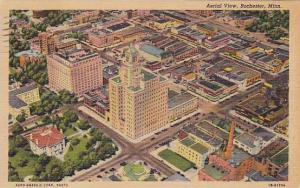Aerial view, Rochester, Minnesota,PU-30-40s