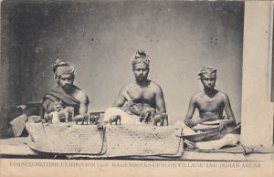Franco-British Exhibition 1908 Hagenbeck's Ceylon Village and Indian Arena Ha...