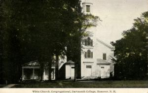 NH - Hanover. Dartmouth College, White Church, Congregational