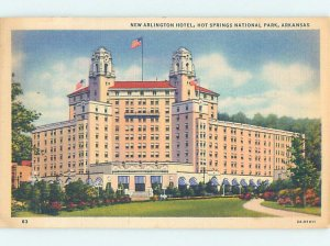 Linen HOTEL SCENE Hot Springs National Park Arkansas AR AE1649
