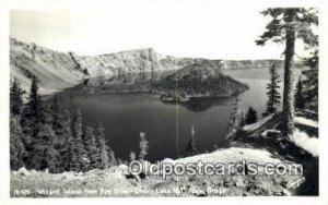 Real Photo - Wizard Island - Crater Lake National Park, Oregon