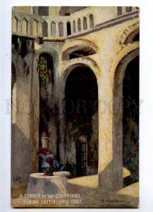 235462 Ghana GOLD COAST Elmina castle Vintage TUCK postcard