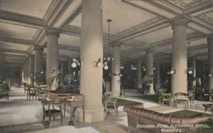 WINNIPEG , Manitoba , 1910 ; Rotunda , Royal Alexandra hotel