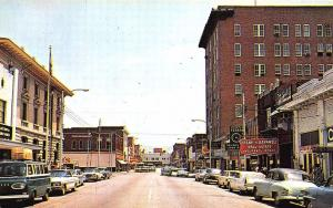 Florence SC Street View Store Fronts Old Cars Postcard