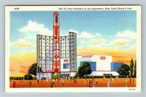 1939 New York World's Fair - The DuPont Company Building - Linen Postcard