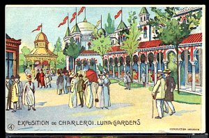 Belgium Charleroi Exposition 1911 Fancy People on the Midway