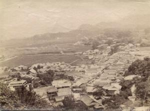 japan, TAKEO, Panorama from the Hill (1903) Real Photo