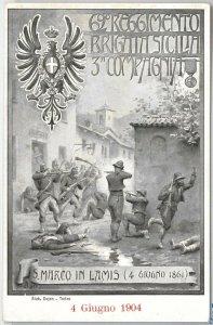 49812 CARTOLINA d'Epoca - FOGGIA: REGGIMENTALI Brigata Sicilia: S Marco in Lamis