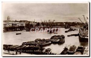 Old Postcard The Pool of London Bateaux London