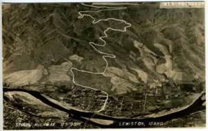 Lewiston ID Spiral Hwy RPPC Postcard