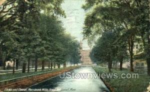 Locks & Canal Lowell MA 1907