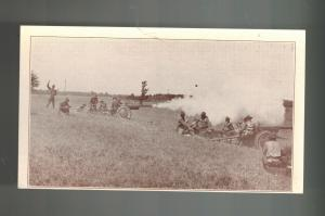 Mint WW 1 US Army Soldiers RPPC Postcard Field Artillery Battery Firing