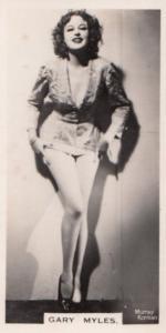 Gary Myles Hollywood Actress Rare Real Photo Cigarette Card