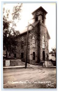 Postcard M.E. Church, Central City, CO est. 1864 RPPC H13