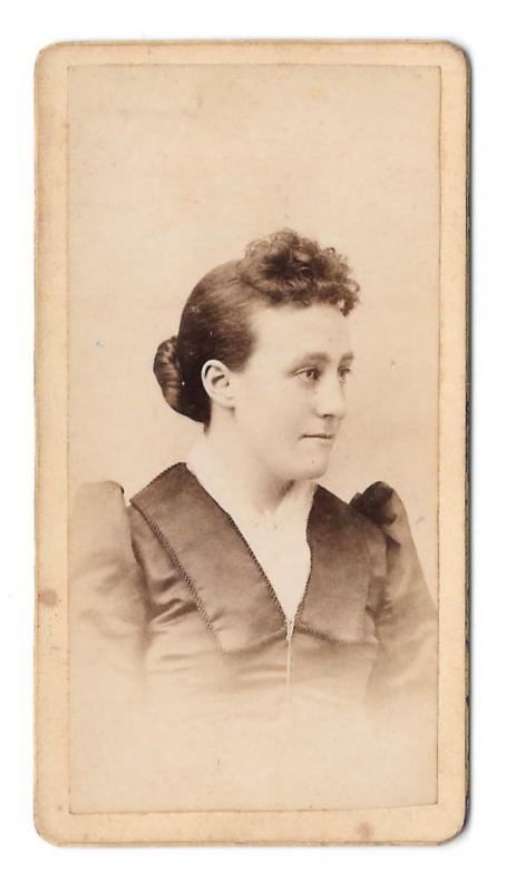 1884 Marriage Announcement Photos Hampton Iowa WP Jeffers Hala Jackson Genealogy