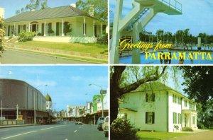 Parramatta Farm Cottage Olympic Swimming Pool Australia Postcard