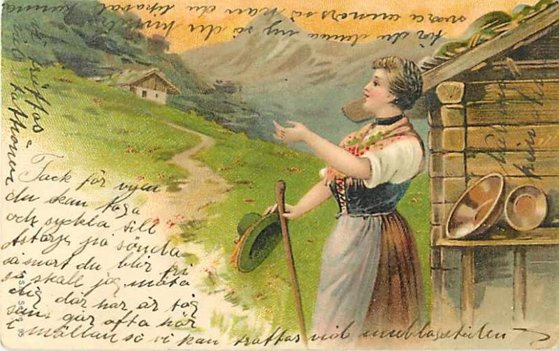 UND/B Swedish Mountain Home, Not a Signed Art Card, 1904