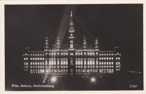 Austria Vienna Rathaus Festbeleuchtung Photo