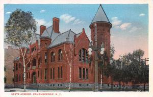 State Armory, Poughkeepsie, N.Y.,  Early Postcard, Unused