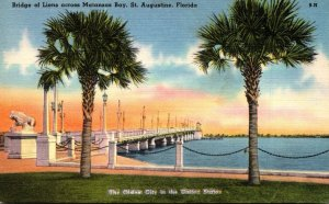Florida St Augustine Bridge Of Lions Across Matanzas Bay