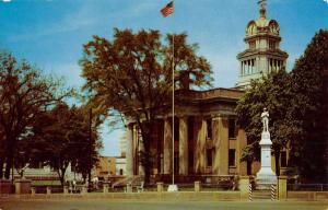 Huntsville Alabama Court House Street View Vintage Postcard K50739
