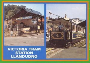 Postcard Victoria Tram Station, Llandudno, North Wales #993