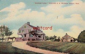 1911 GOSHEN MA Katshead Lodge Residence A. L. Williston, mailed to RL Russell