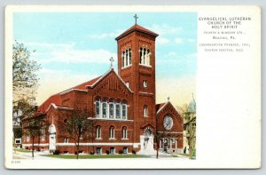 Reading Pennsylvania~Evangelical Lutheran Church~Turret Home~4th & Windsor~c1914