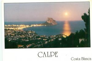 Old Vintage Postcards Sunrise Calpe Costa Blanca Spain # 2217A