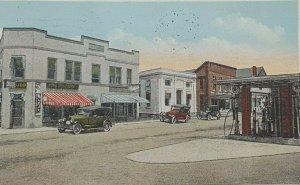 1933 Olde Forge NY Texaco Gas Station Cars Adirondacks Old Vintage Postcard A9b